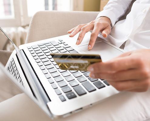 Notebook, Online, Zahlung, Online einkaufen, Kreditkarte