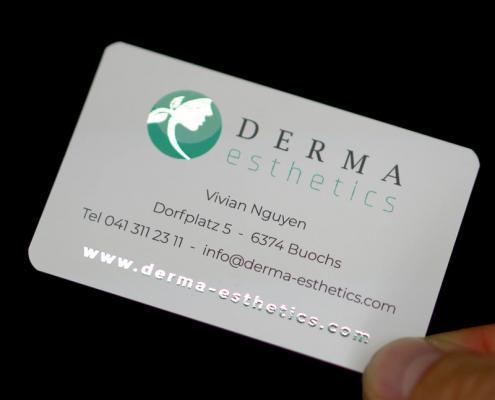 Exklusive Visitenkarten Derma Esthetics
