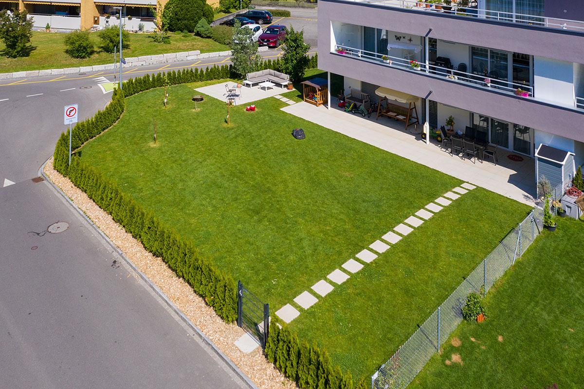 Drohnenaufnahmen Gartenwohnung