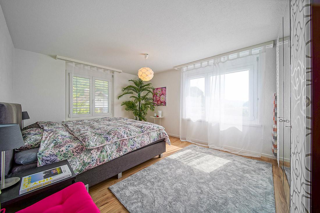 Immobilienfotografie Aargau EFH Schlafzimmer