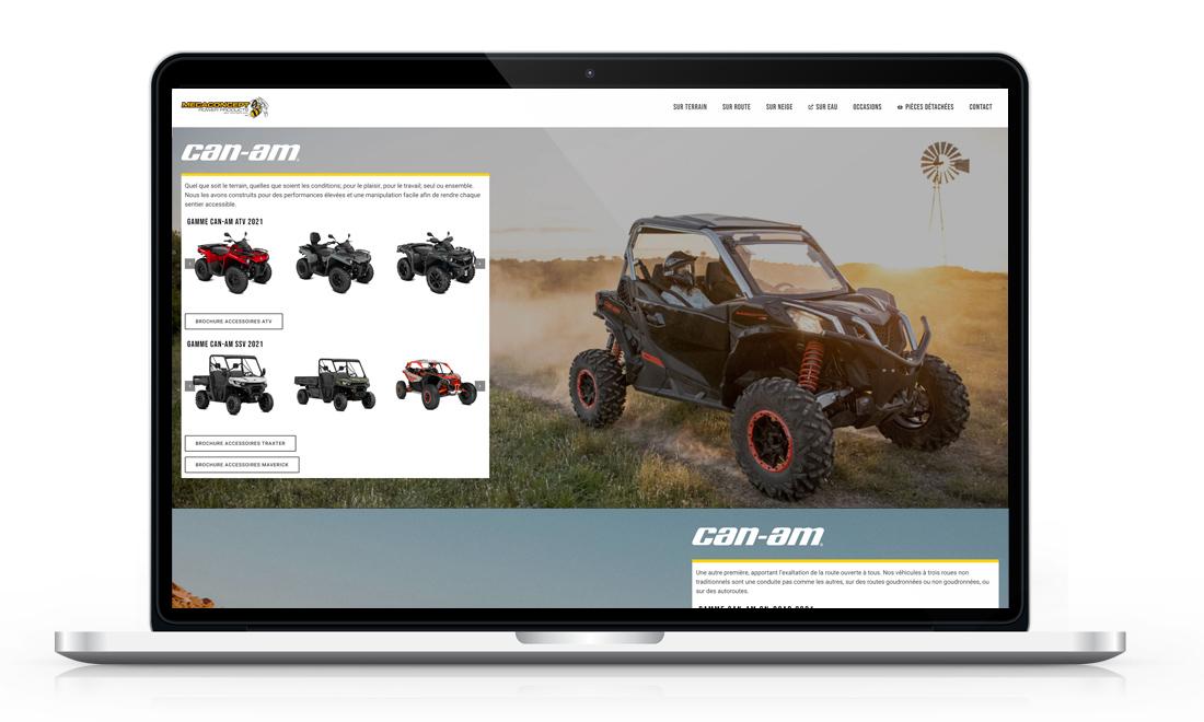 Screenshot der Startseite von Mecaconcept Power Products Wordpress Website