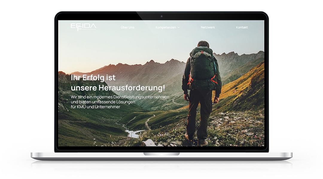Screenshot Desktop Website effida.ch