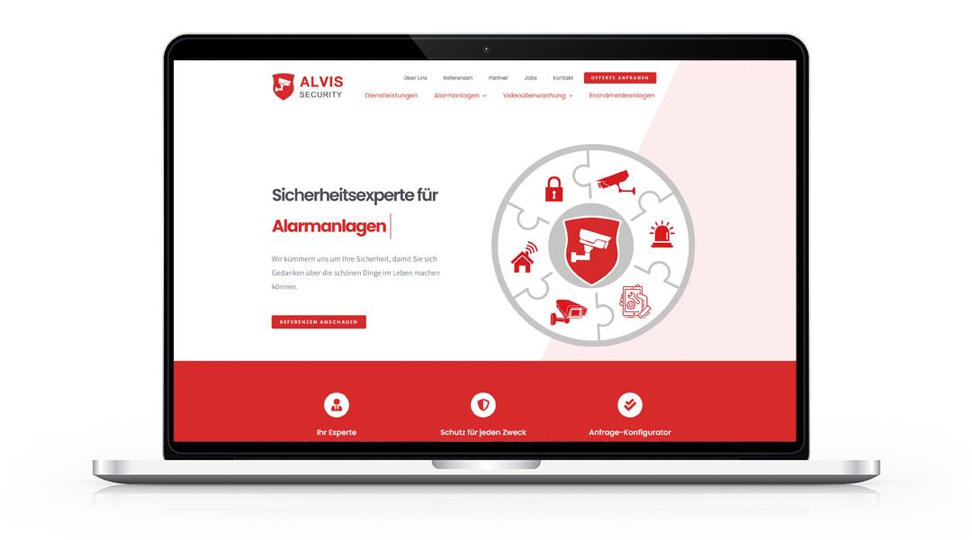 Screenshot alvissecurity.ch Homepage
